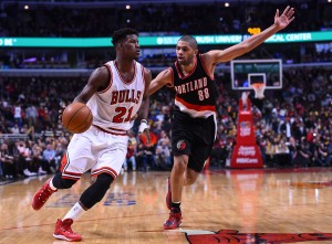 NBA: Portland Trail Blazers at Chicago Bulls